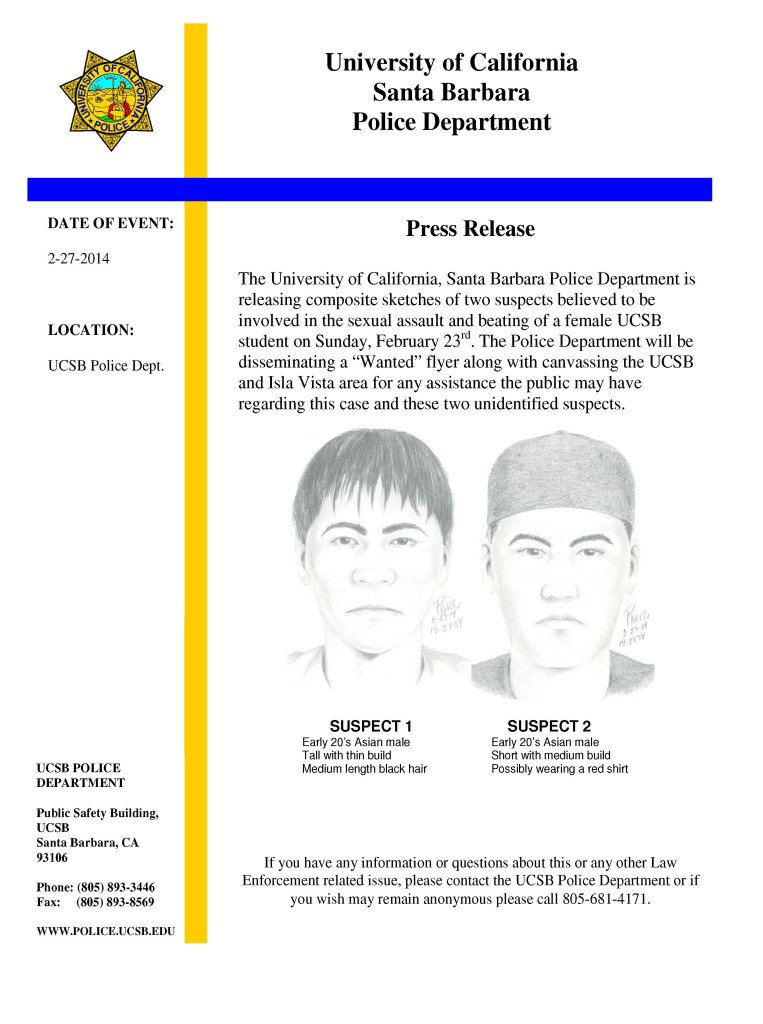 GRAPHIC COURTESY OF UCSB Police Department