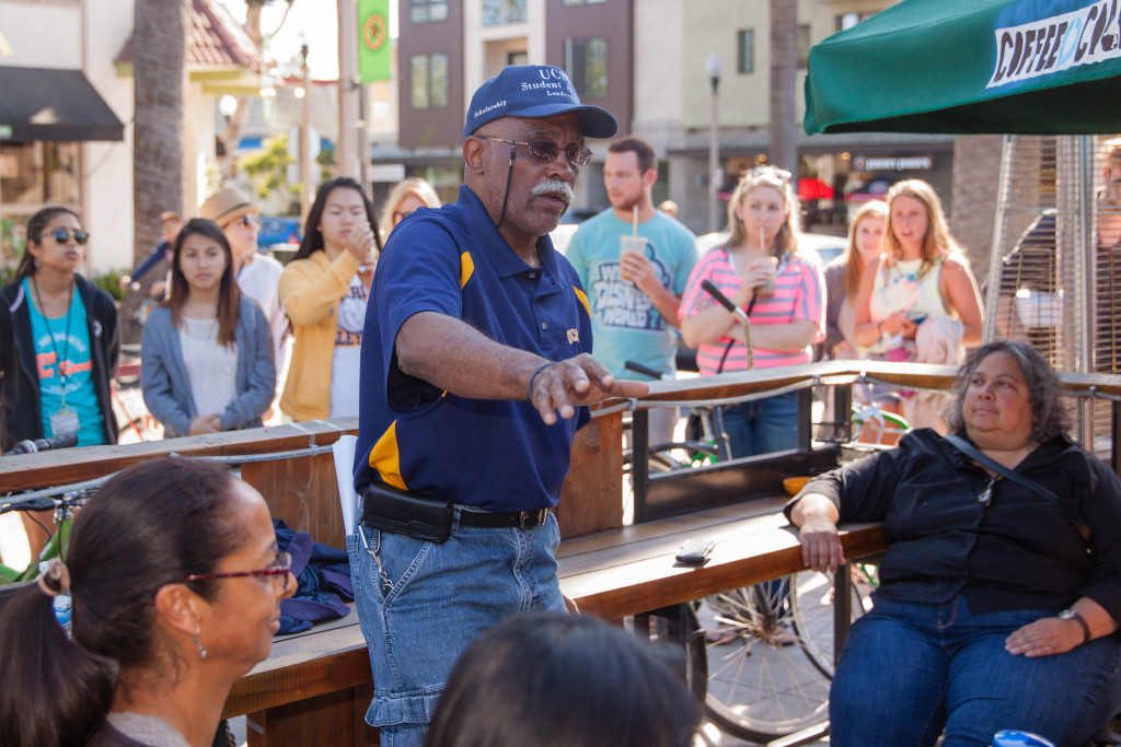 The day after the Deltopia riots, UCSB Vice Chancellor Donald Young held an open forum at the Coffee Collaborative and invited students and community members to speak with him. Benjamin Pu/Daily Nexus