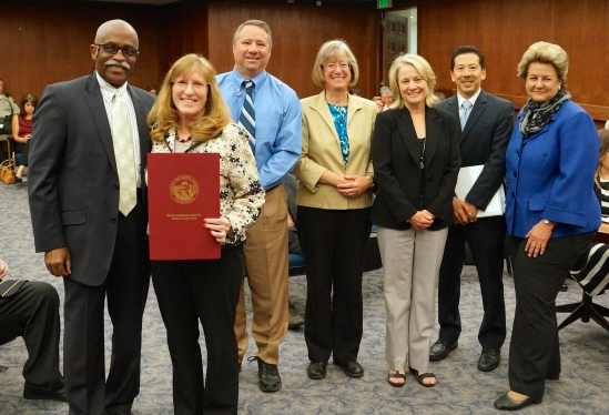 The Santa Barbara County resolution praises the handling of the meningitis outbreak earlier this year.