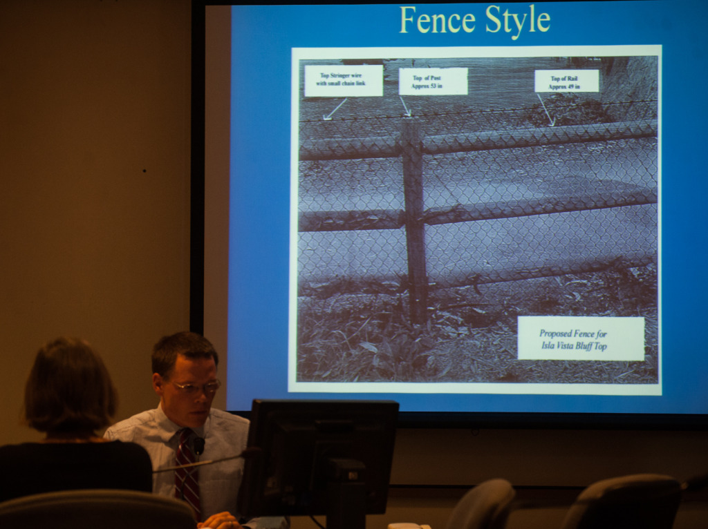 The Planning Commission discusses different fence types. According to  commission chair Daniel Blough, construction of fences will begin shortly.