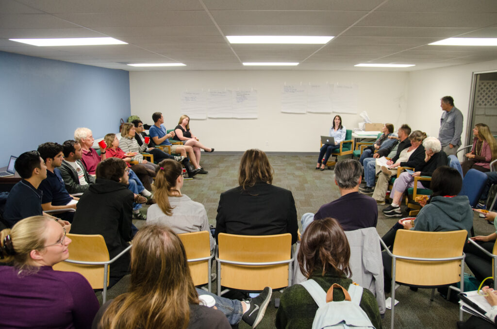 Tuesday night's weekly Isla Vista stakeholder's meeting, organized by Assemblyman Das Williams' office, discusses the possibility of creating a Municipal Advisory Council either in addition to or instead of a Community Services District. Alex Nagase/Daily Nexus