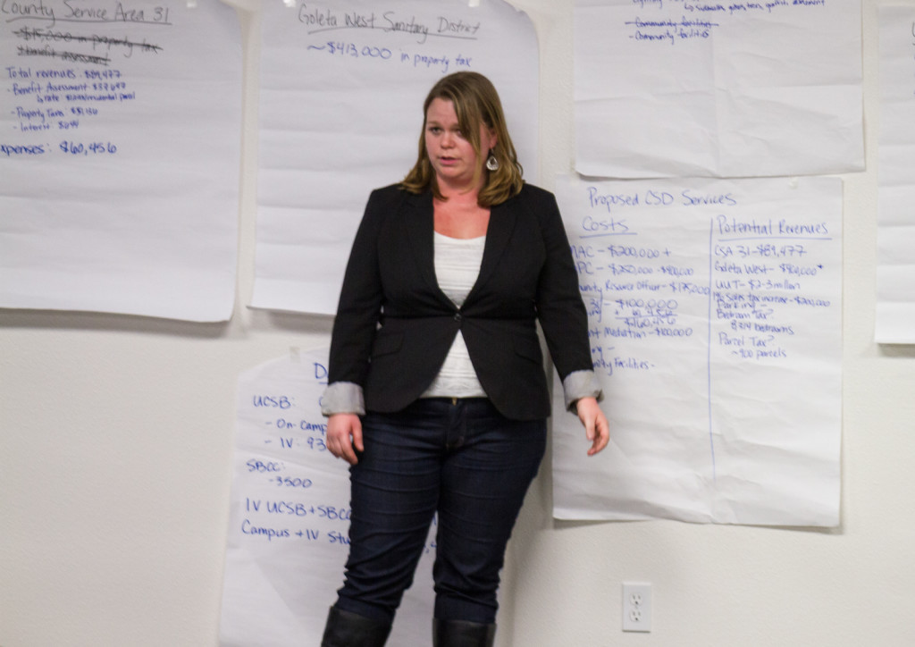 Discussion during Tuesday night's stakeholders meeting focused on funding for services such as graffiti abatement and DP fencing. Brendan Mansfield/Daily Nexus