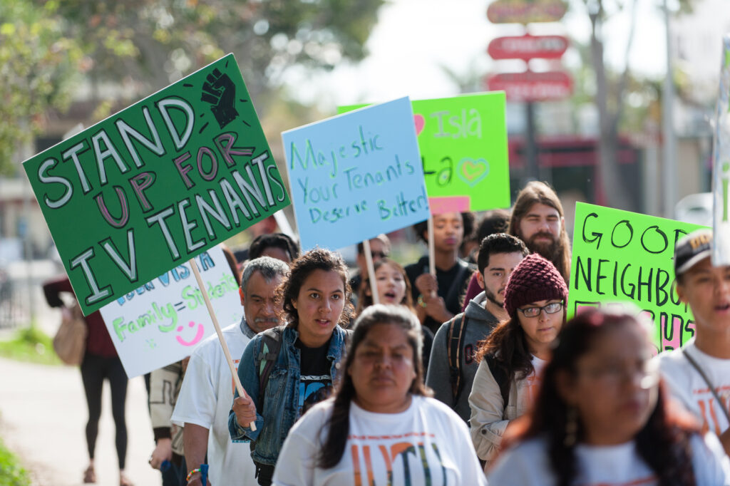 Earlier this month, I.V. Tenants Union organized a community march to Abrego Villas. They plan to do the same thing this Friday. Daily Nexus File Photo