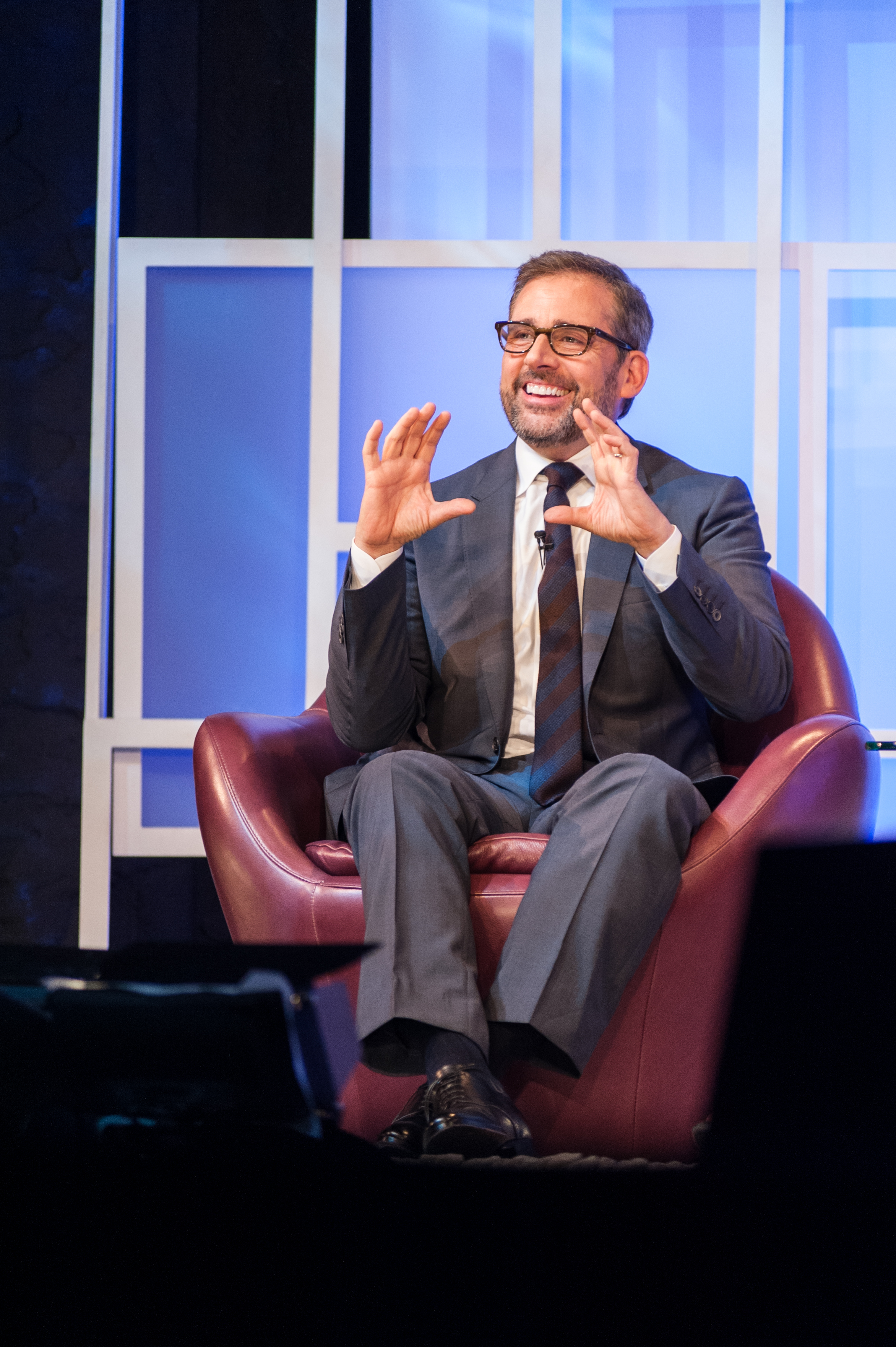 Steve Carell revisits his film career during his tribute event on Feb. 5 (Lorenzo Basilio/Daily Nexus)
