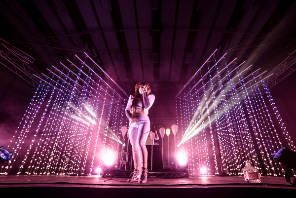 Purity Ring performed at the Warm-Up Concert in the Thunderdome, hosted by AS Program Board. Lorenzo Basilio/Daily Nexus