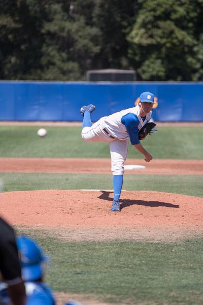 Shane Bieber launches a fastball. Stephen Manga/Daily Nexus