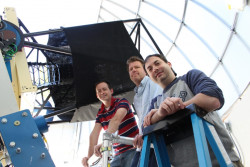From left to right: Post doct, Curtis McCully, faculty member Andrew Howell and postdoc, Iair Arcavi.