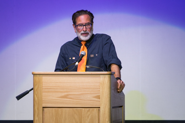Richard Martinez shares his story about how gun violence has affected his life. Stephen Manga/Daily Nexus