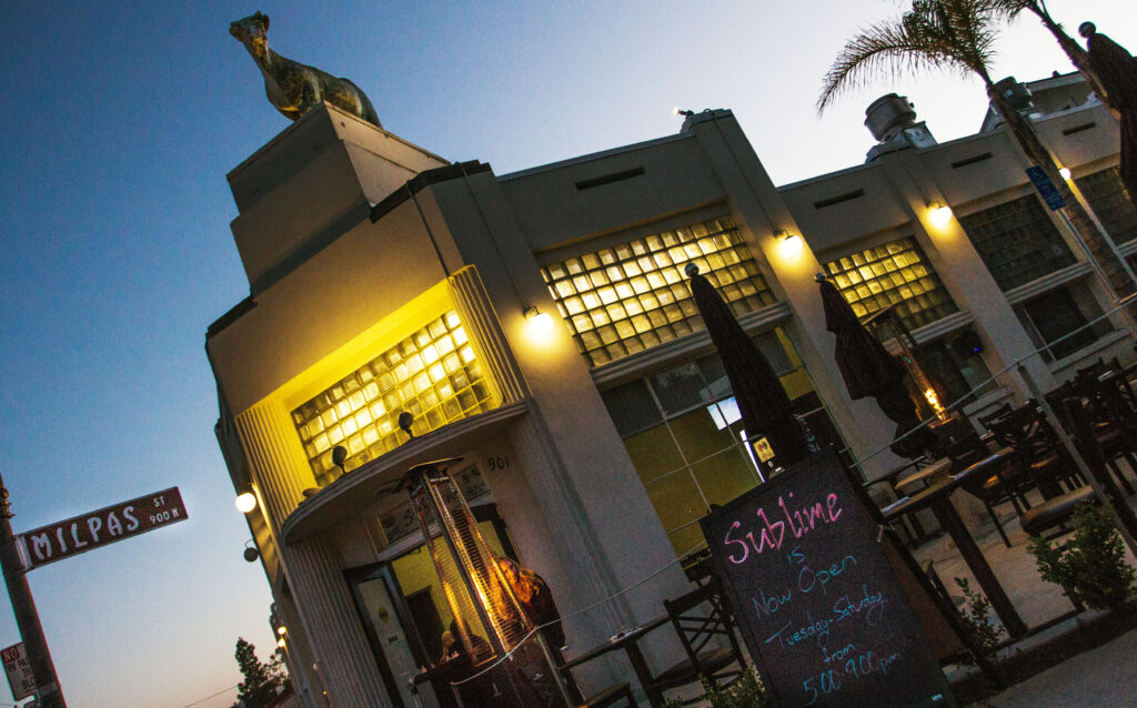 The outdoor decor of Sublime boasting the famous graffiti cow Claire Nuttall/Daily Nexus