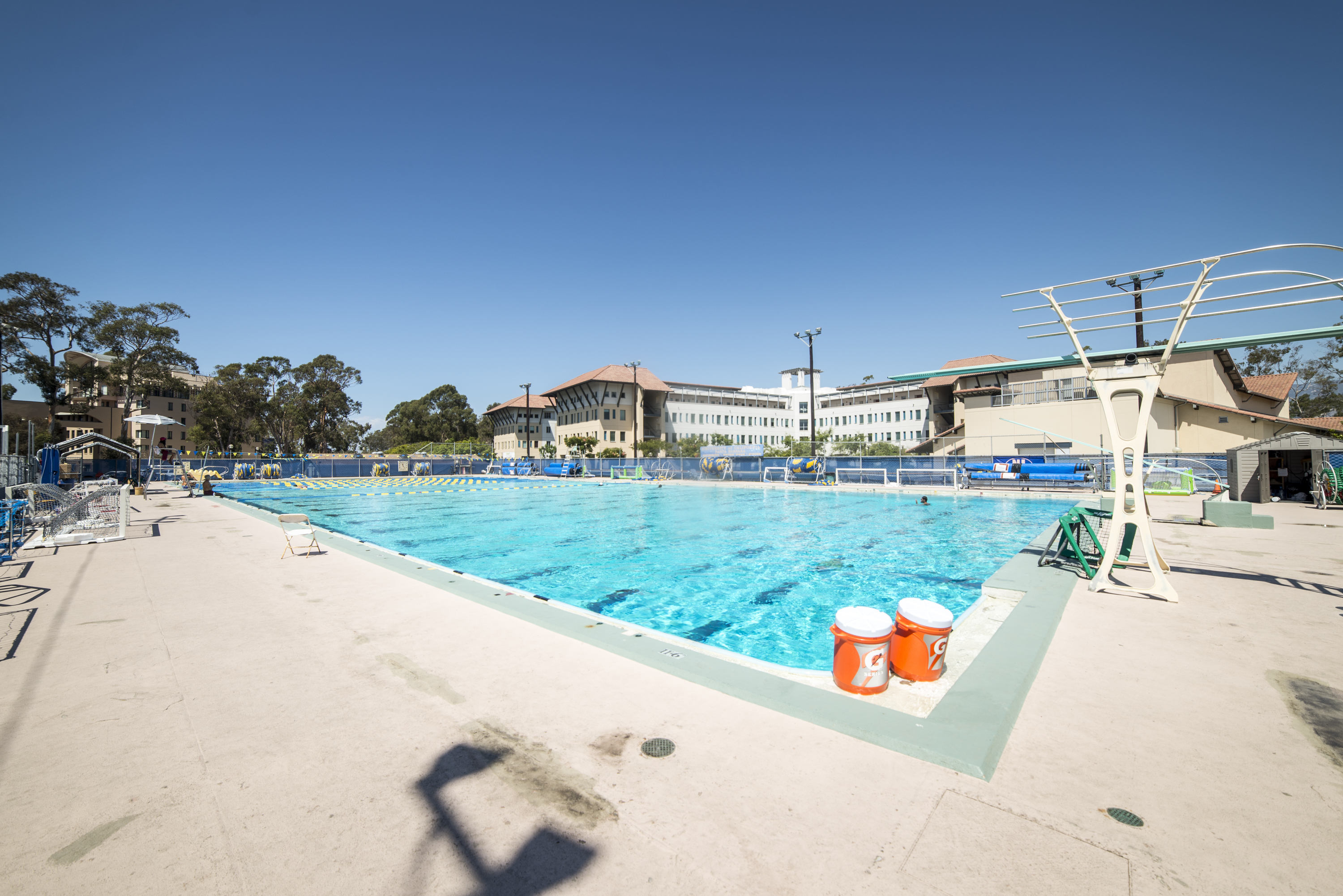 The Gauchos' hope to improve their home records at Campus Pool this season after below average records in 2014.  Daily Nexus/Lorenzo Basilio
