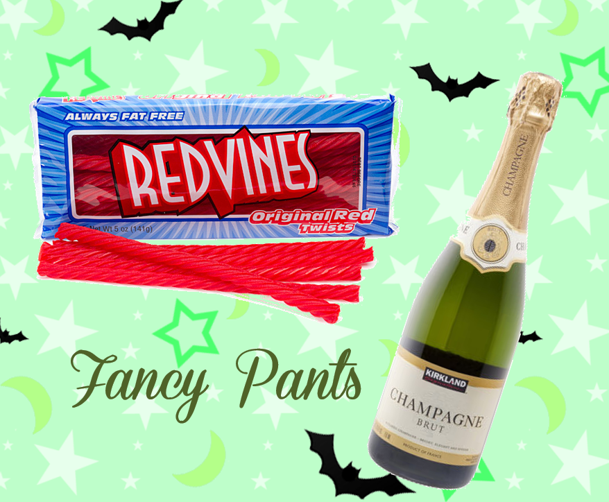 champagne and red vines