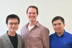 Aptitude co-founders and former competition winners (from left), Jinpang Wang, Scott Ferguson, and Jackson Gong, applied their research into a medtech company.