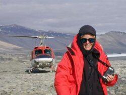 McIntyre investigates Lake Vanda, Antartica.