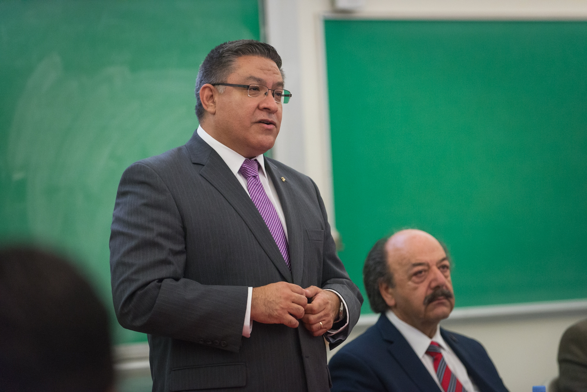 Lorenzo Basilio / Daily Nexus Democrat Salud Carbajal currently serves on the Santa Barbara County Board of Supervisors and has been endorsed by Lois Capps. He said he will push for greater accessibility to higher education.