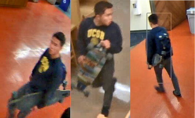 The suspect twice walked into the women's bathroom on the seventh floor of the library, according to UCPD.