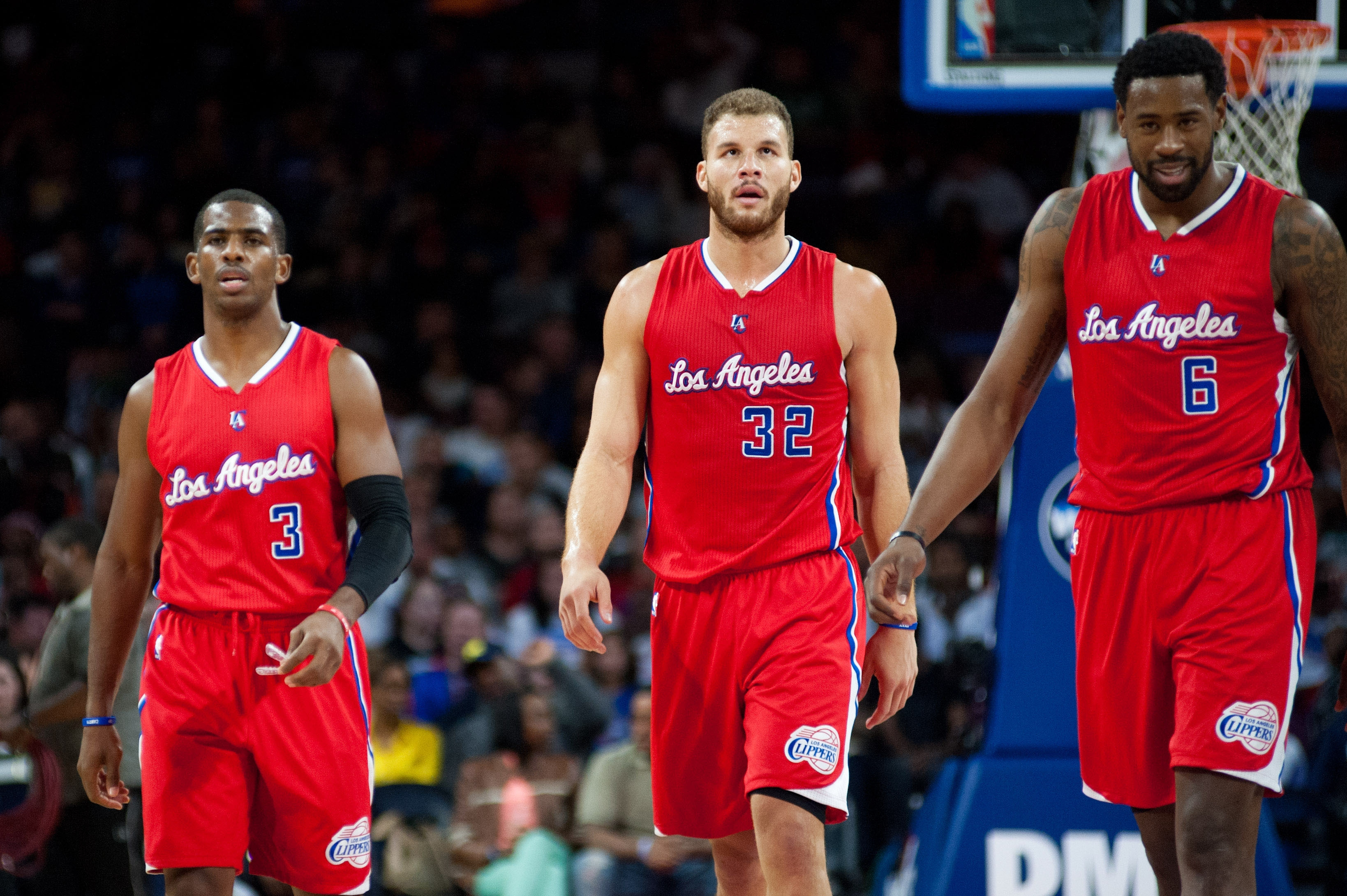 Chris Paul (left), Blake Griffin (middle), and Deandre Jordan (right). / Photo Courtesy USA TODAY Sports