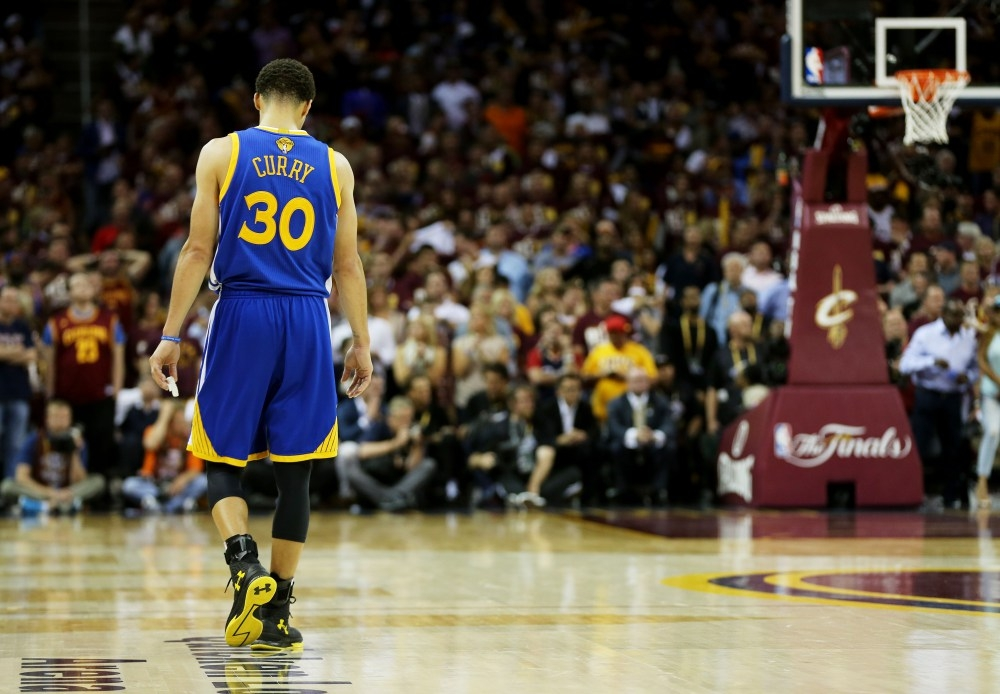 After averaging 30.1 ppg in the regular season, Curry only managed 22.6 ppg in the Finals. Mike Ehrmann / Getty Images