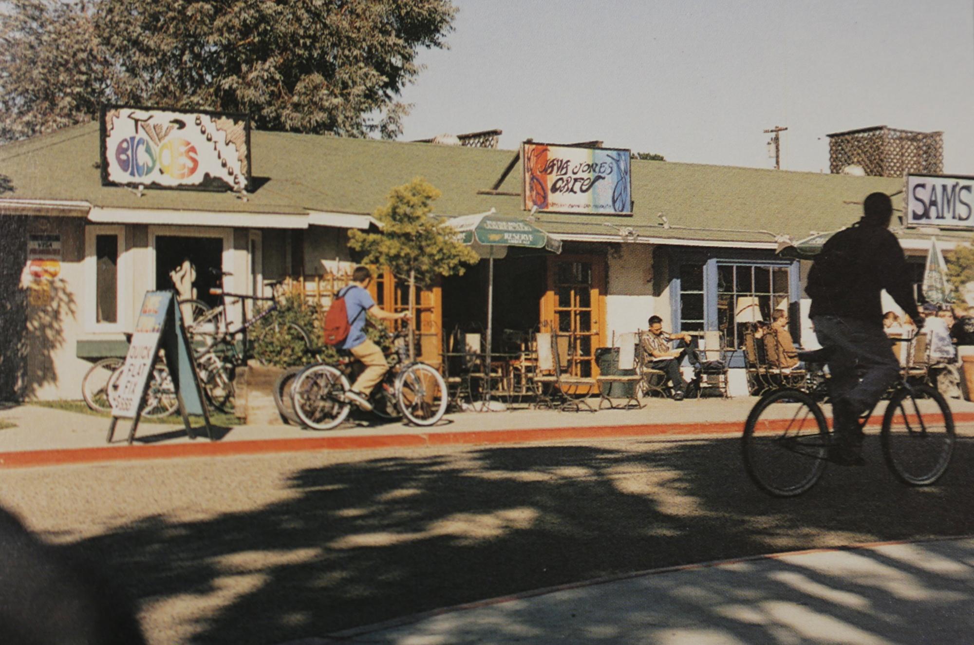 The Varsity Bike Shop in 1998. via La Cumbre archives