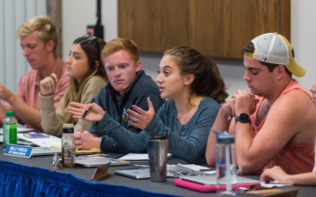 College of Letters & Science senator Tamar Barlev speaks during the weekly Legislative Council meeting on Wednesday, October 26, 2016.