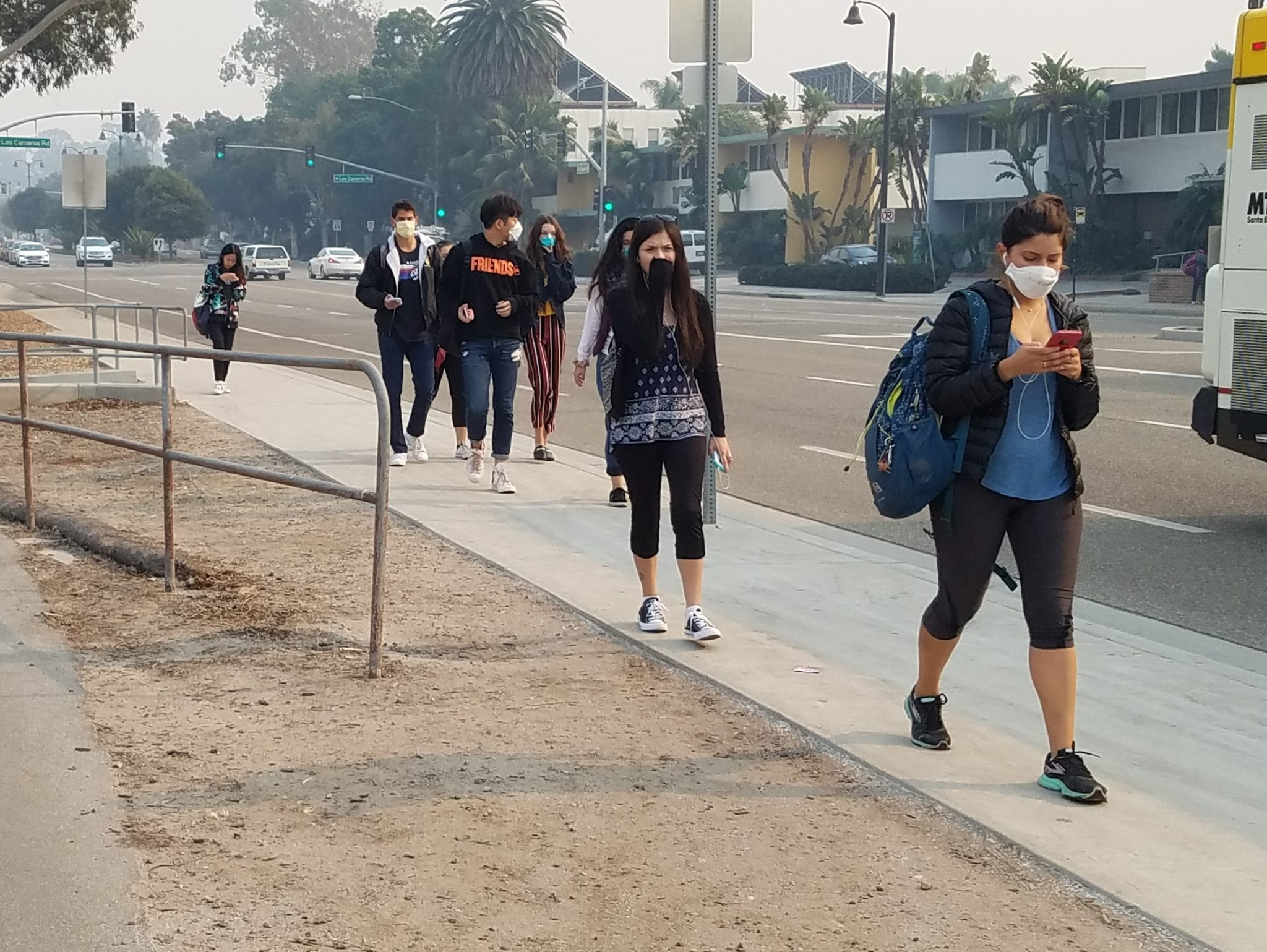 In Photos Ucsb Students Bike Through Ash Prepare For Finals Amid Socal Fires The Daily Nexus
