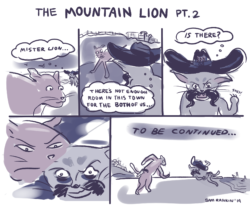 a comic about the mountain lion and bobcat who vi